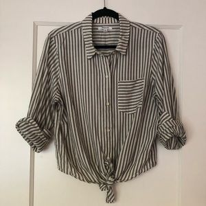 Madewell tie front button-down